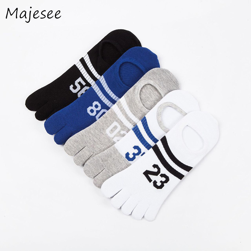 Number Men Five Fingers Toe Socks Cotton Patchwork Mens Funny Sock Summer Deodorant Breathable Healthy Care Style Male Casual