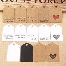 См 100 шт. 3×2 см ручной работы с любовью бумага карты Метки этикетки DIY ремесла повесить тег подарочная упаковка поставки Свадебные сувениры