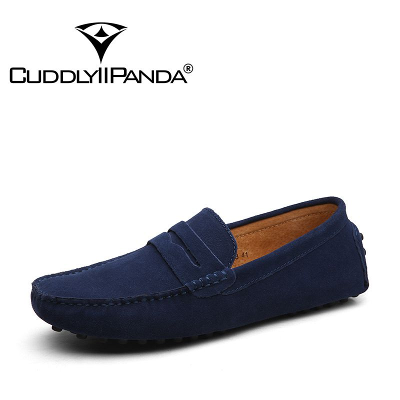 CuddlyIIPanda Men Fashion Genuine Leather Summer Autumn Loafers Top Quality British Style Men Driving Casual Male Comfort Shoes 2016 new summer british style men s driving shoes fashion casual shoes flat with low top 39 44 size