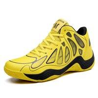Hombres Zapatillas de baloncesto High Top sneakers mujeres deporte al aire libre Zapatos cesta hombre breathable Botines aire Cojines negro