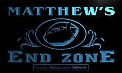 x0025-tm Matthews Football End Zone Custom Personalized Name Neon Sign Wholesale Dropshipping On/Off Switch 7 Colors DHL