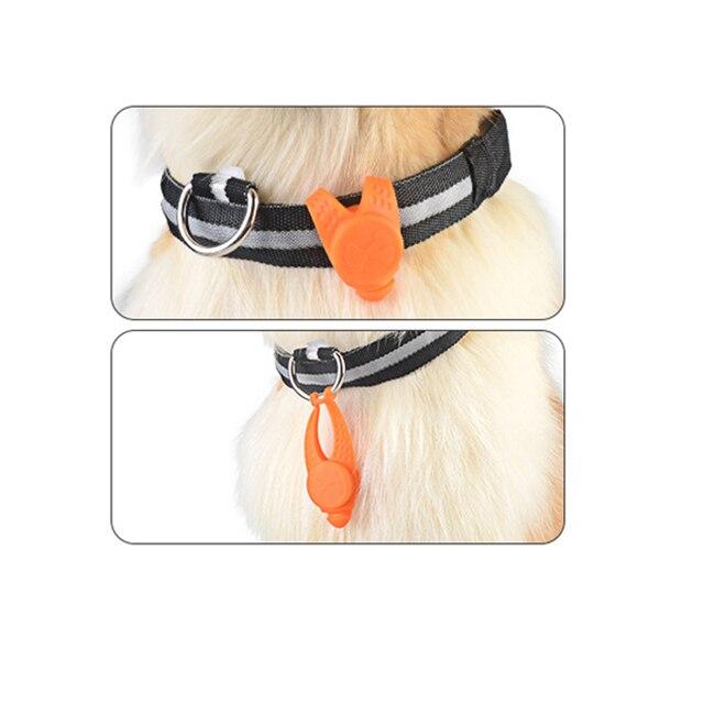 Pet Dog Led Light Pendant Night Walking Safety Dog Cat Collar Charm Puppy Kitten Necklace Glowing Flashing Light Pet Supplies 2