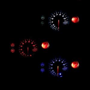 Image 3 - CNSPEED 80mm Racing Car Rpm Tachometer Gauge With Warning light Auto car Gauge/Car Meter/Black Face Tachometer Gauge xs101146