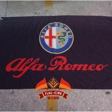 ALFA ROMEO Гоночный флаг, 90*150 см полиэстер флаг король бренд баннер