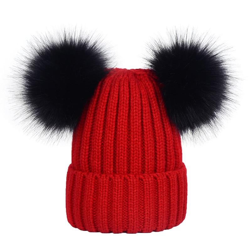 Fashion Baby Hats boys Beanie Outdoor Hat Baby Pompoms Winter Newborn Beanie Children Wool Knitted Caps Warm Beanie Fotografia