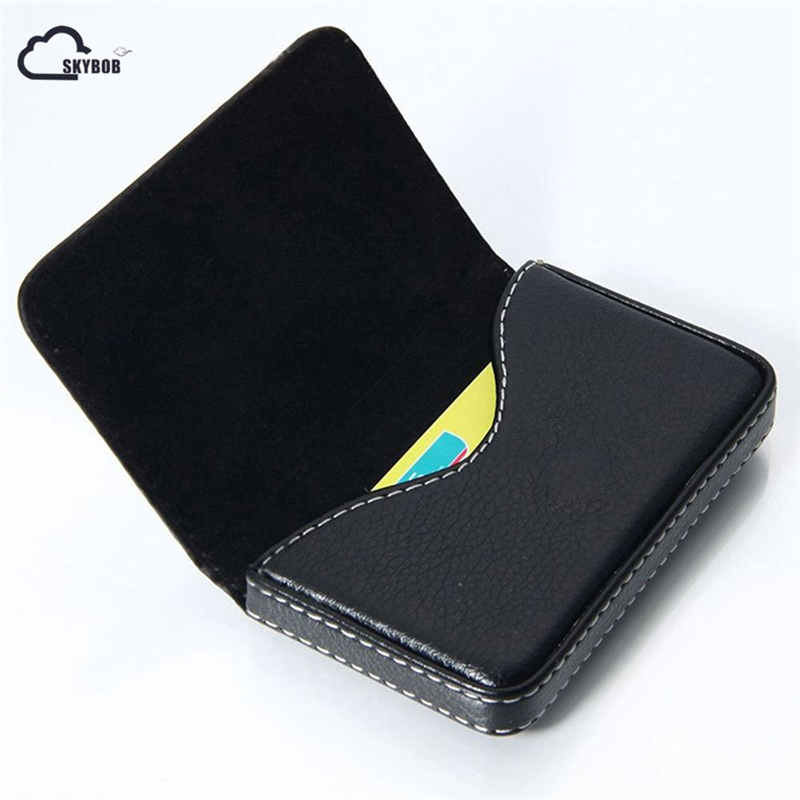 цена New Men Black Pocket PU Leather Business ID Credit Card Holder Case Wallet hot