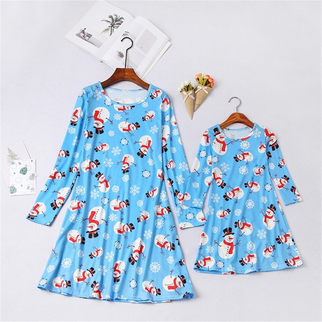 3d0037093276 2018 Mama Mom Mum Baby Girl Dress Look Clothing Family Christmas Pajamas  Mother Daughter Dresses Mommy And Me Matching Outfits