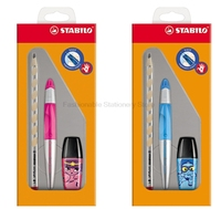 Stabilo 2745 Gift Set 1PC Gel Pen 1PC Pencil 1PC Highlighter Pencil Correction Children Writing Posture