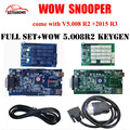 2 pçs/lote Nec relés WoW SNOOPER tcs cdp pro com/sem bluetooth V5.008 R2/2015 software R3 + wow keygen para carros e caminhões