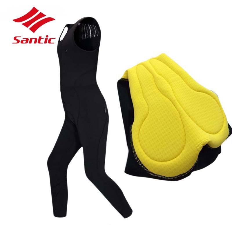 Santic Cycling Jersey Men MTB Road Bike Tights Clothing Pro 4D Pad Winter Thermal Fleece Bicycle Clothes Pantalon Ropa Ciclismo  santic winter thermal fleece m 3xl 4d pads cycling pants men bicycle bike pants tight trousers sweatpants cycling clothing 2017