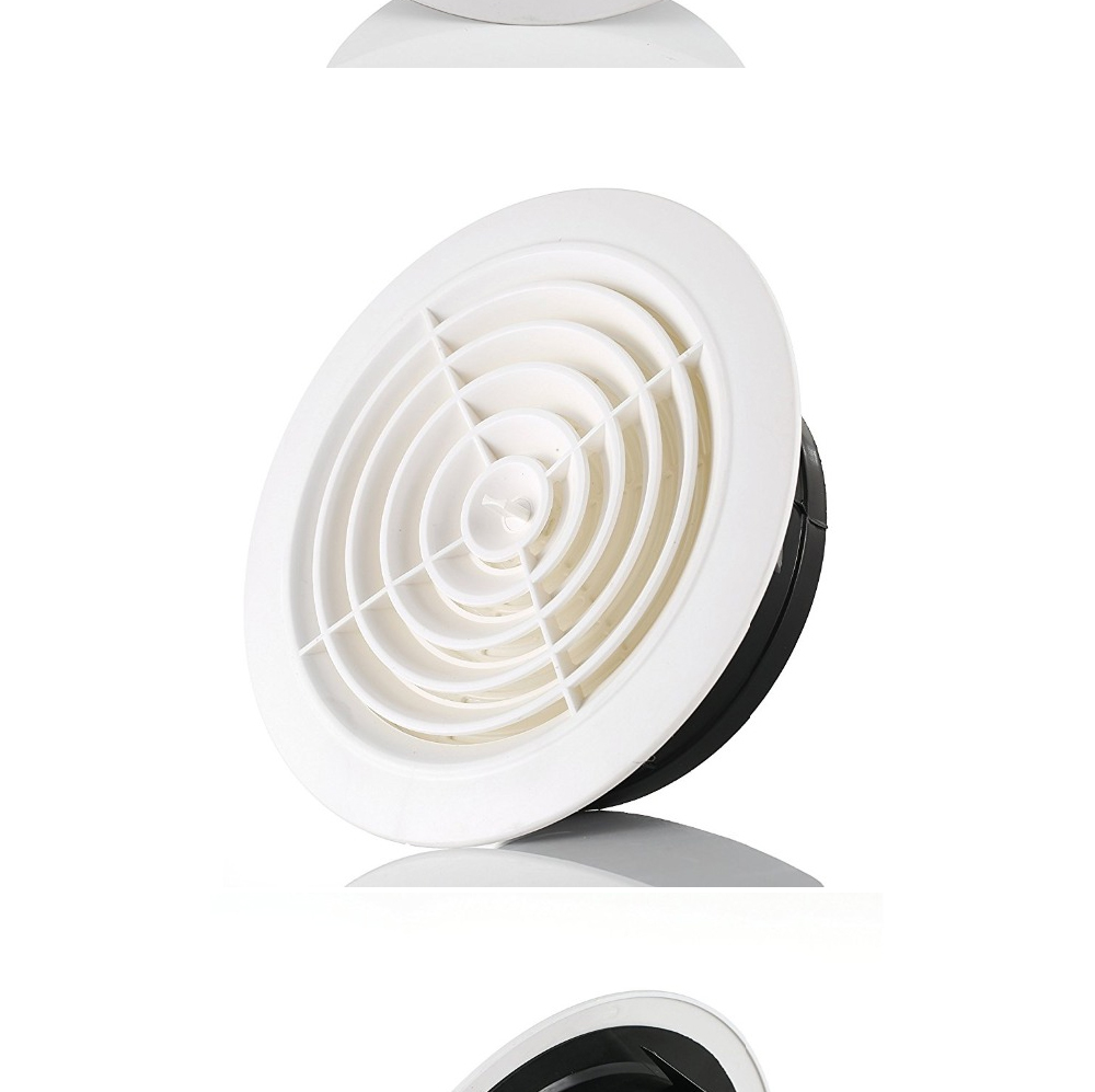 Хон и Guan круглое вентиляционное отверстие ABS жалюзи белый решетка крышки регулируемая выхлопных подходит для Ванная комната офисные