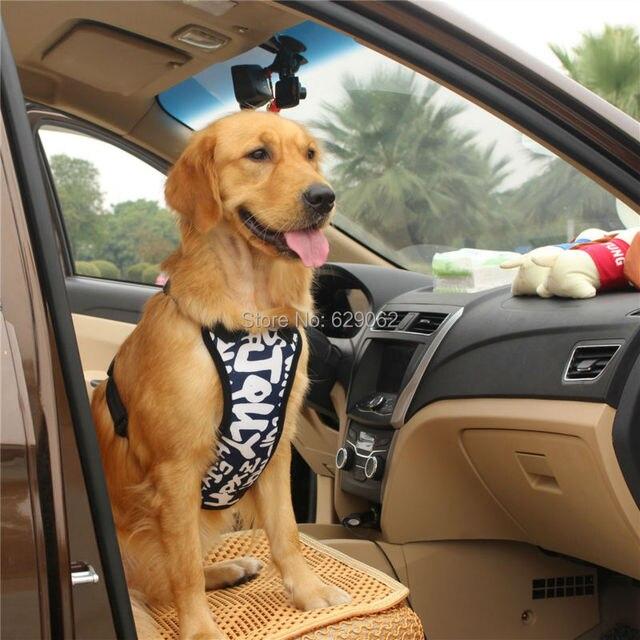2016 NEW Large Dog Car Seat belts Soft Comfortable Big Pet Vest ...