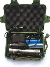 2000 люмен XML-T6 светодиодный фонарик Регулируемый фокус светодиодный фонарик + 2 шт. 18650 Батарея + Зарядное устройство машины Зарядное устройство + пластик коробка