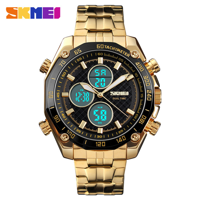 57135b58963 SKMEI 1302 Homens Relógio Cronômetro À Prova D  Água de Negócios de Moda  Relógios De
