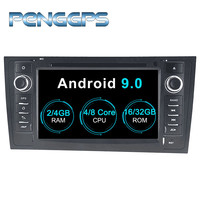 Android 9.0 CD DVD Player 2 Din Stereo Car Radio for AUDI A6 1997 2005 AUDI A6 1997 2006 GPS Navigation Autoradio Headunit