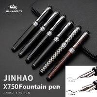 Jinhao X750 перьевые ручки среднего размера, высокое качество, роскошная чернильная ручка, 0,5 мм, ручка Фуэнте, ручка, Пенна, стилографика, пеннино