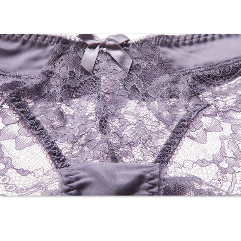 CYHWR Fashion Transparent Panties Women Lace Hollow Out Panties High Quality Sexy Soft Panties Crotch Cotton Briefs