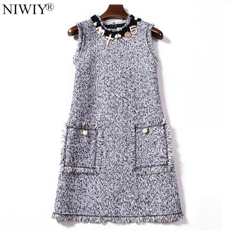 NIWIY ապրանքանիշի զգեստ Sweet Diamonds Bead Pink - Կանացի հագուստ - Լուսանկար 2