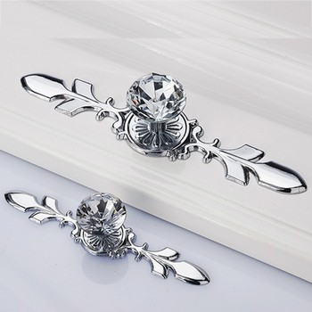 Retro Metal Kitchen Drawer Cabinet Door Handle Glass Crystal Dresser Knobs 1PC Furniture Knobs Cupboard Pull Handles with screw crystal knobs