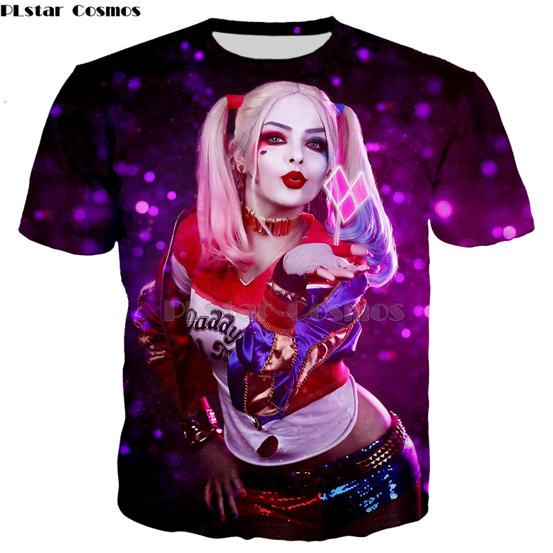 Suicide Squad Men Women HAHA T Shirt 3D Print Harley Quinn Joker Shirt Summer O-Neck Casual Tops Tee Hoodies/sweatshirt Tshirt-5