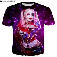 Suicide Squad hombres mujeres HAHA camiseta 3D impresión Harley Quinn Joker camisa verano o-cuello Casual Tops Tee tshirt-5