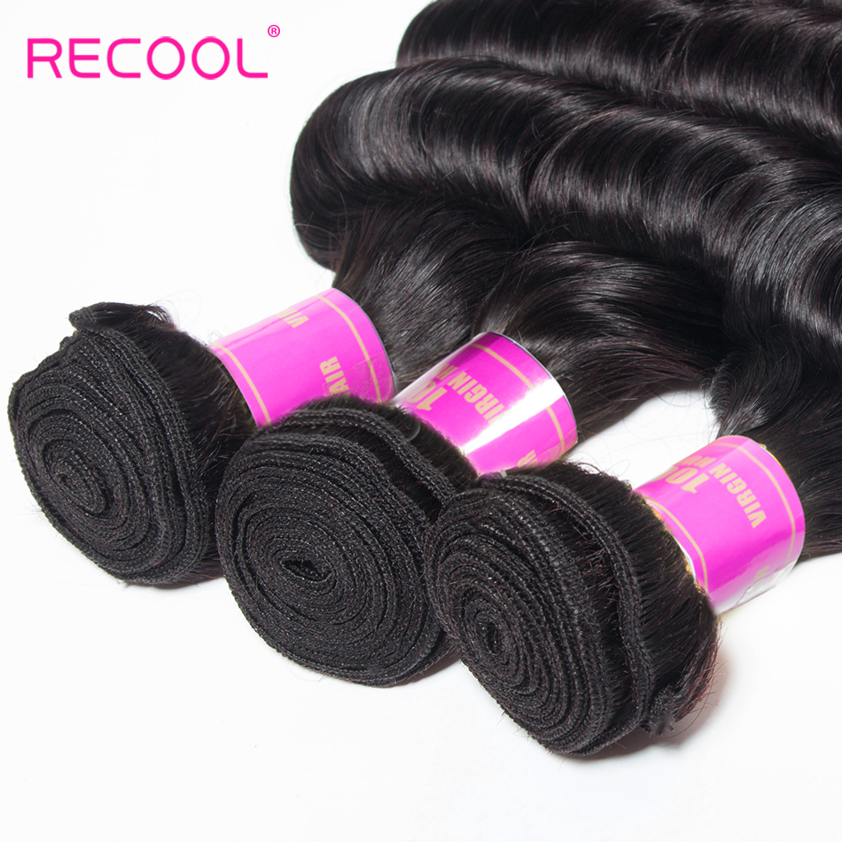 HTB1CiENGf5TBuNjSspcq6znGFXap Recool Loose Deep Wave Bundles With Frontal Closure Hd Transparent Lace Remy Brazilian Human Hair Weave 3 Bundles With Frontal