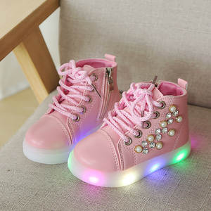 online store 2ea05 1e850 2018 Spring Glowing Girls Sneakers Basket Led Children Lighting Shoes Boys  illuminated krasovki Luminous Sneaker Size 21-30