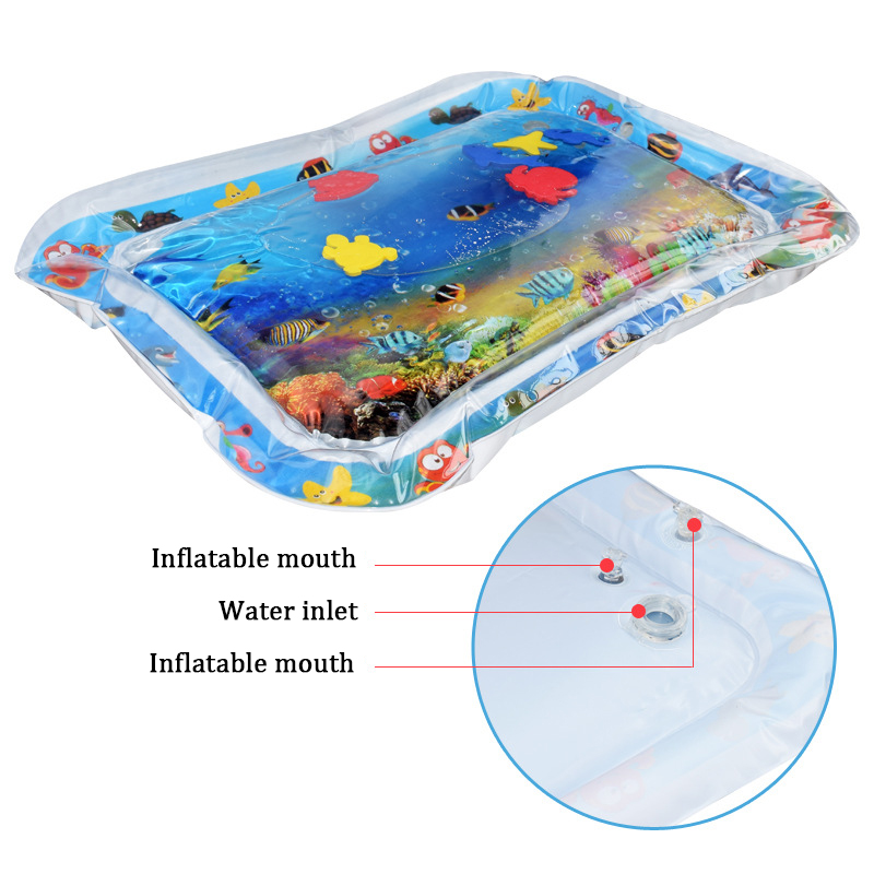 Water Mat for Baby Play Mat Carpet Inflatable Water Mat for Babies Tummy Time Inflatable Water Mat for Babies Ensory Stimulation (13)