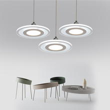 Acrylic Ceiling Mounted Pendant Adjustable Hang Line Length Led Hang Light, Dinning Kitchen Led Pendant Light 12,24,36W 220-240V