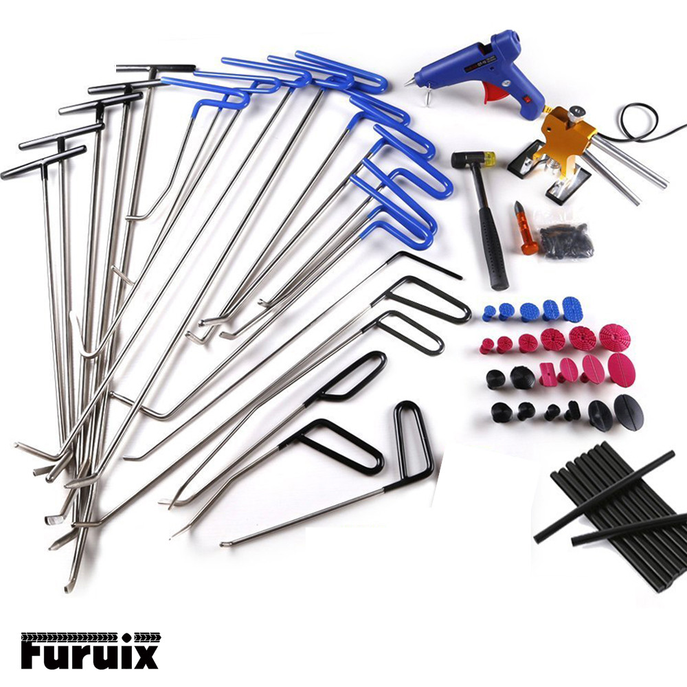 PDR Tools Car Dent Removal Tools - With Tap Down Dent Puller Glue Tabs Glue Gun Glue Sticker Paintless Dent Repair Kits