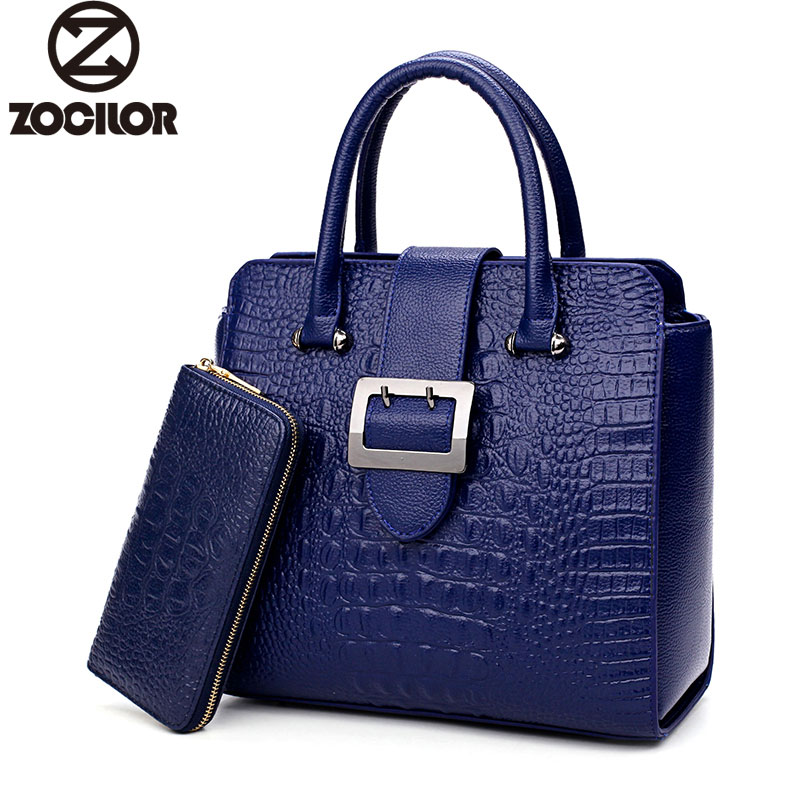 New2017 Two sets  Handbag High Quality Women Messenger Bags for Women Luxury Leather Shoulder Bag Crocodile pattern Handbag yuanyu new 2017 hot new free shipping crocodile leather women handbag high end emale bag wipe the gold