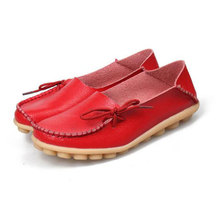 Shoes Woman 2016 Genuine Leather Women Shoes Flats 16 Colors Loafers Slip On Women's Flat Shoes Moccasins Plus Size