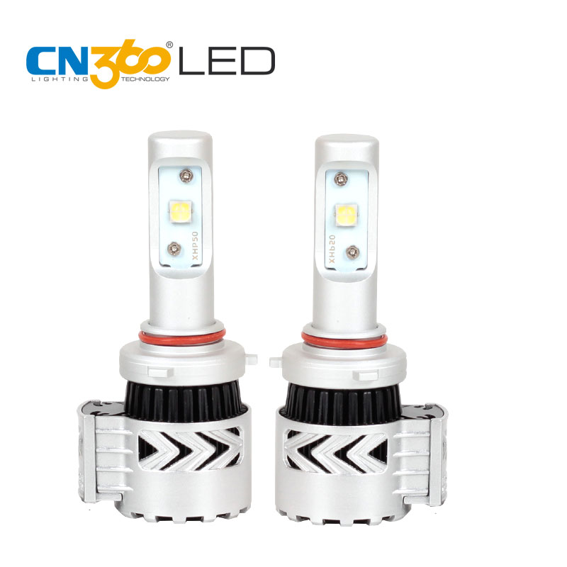 CN360 2PCS 9005 LED Chip New Arrival 40W Headlight Bulbs 6500K White With Cooling Fan 6000LM Headlamp All in One Bulb 12V
