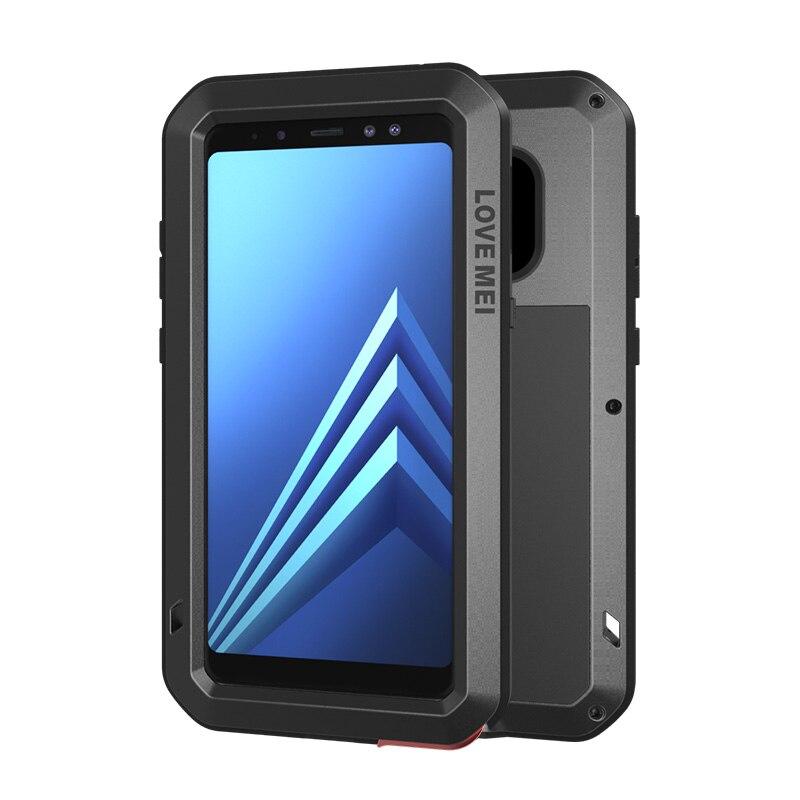 360 coque rigide antichoc pour Samsung Galaxy A8 Plus 2018 coque lourde en aluminium étui pour Samsung A8 coque gorille pleine
