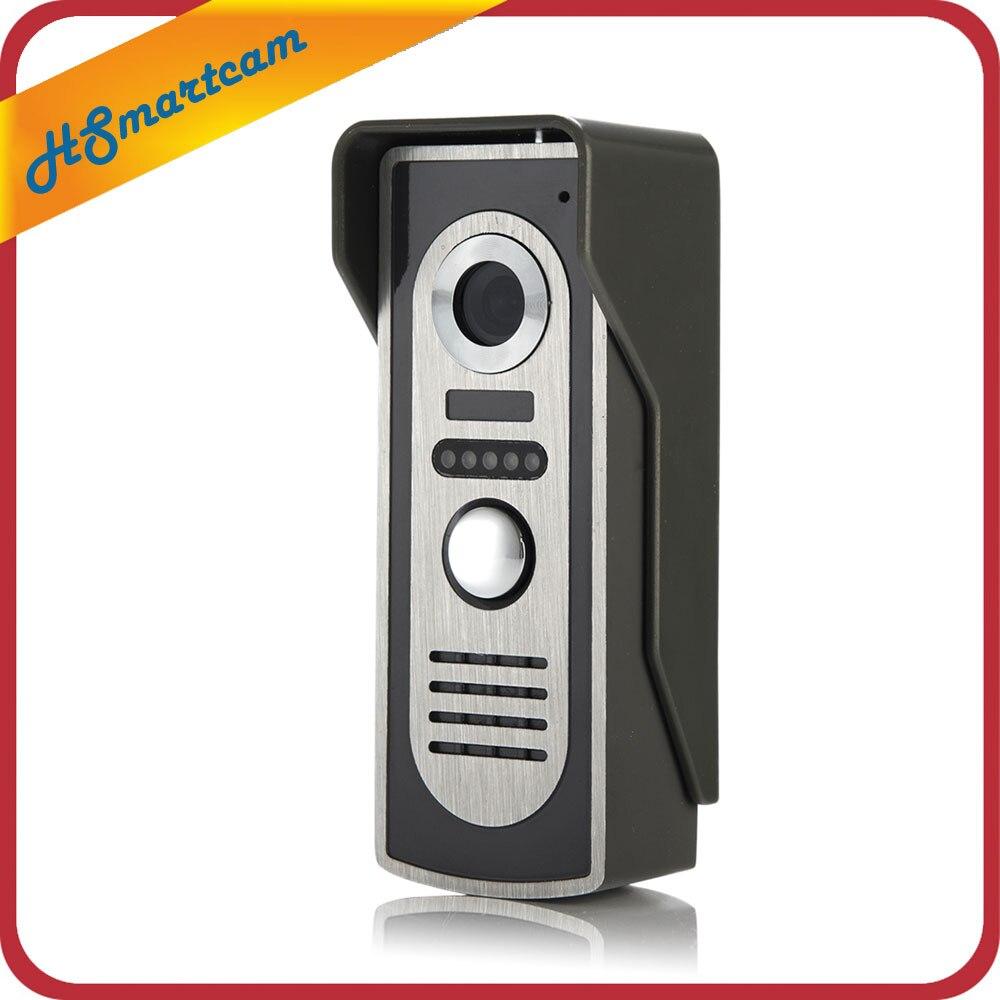 Pour 2v1 7 ''TFT LCD Filaire Vidéo Porte Téléphone Système Interphone Visuel Sonnette 800x480 Moniteur D'intérieur 700TVL Caméra Infrarouge extérieure