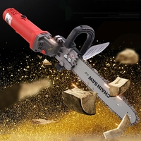DIY Electric Saw Chain Chainsaw Stand Bracket Set Wood Cut For Angle Grinder