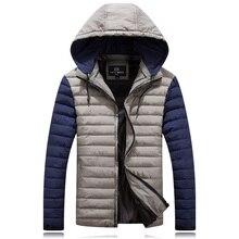 4XL-8XL Large Size Winter Jacket Men Warm Softshell Male Jacket Parkas Hoodie Windbreaker Snow Cold Jacket HLX11
