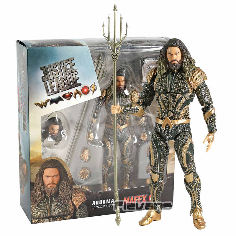 MAFEX NO. 061 Aquaman Justice League PVC Action Figure Collectible Modelo Toy