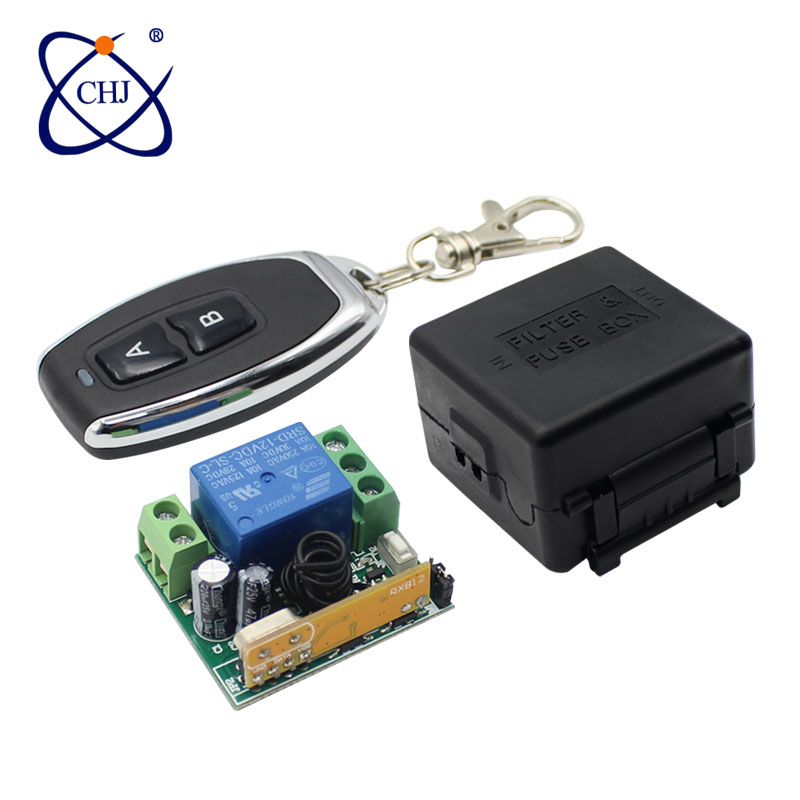 Universal Wireless Remote Control Switch DC 12V <font><b>1CH</b></font> <font><b>RF</b></font> Relay Receiver <font><b>433</b></font> MHz Receiver Module for Light Switch image