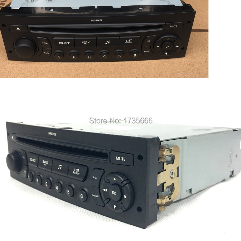 RD45 Auto car radio CD player supports Bluetooth AUX USB MP3 Fit for Citroen C3 C4 C5 Peugeot 207 206 307 308 807 5008 C4 DS3
