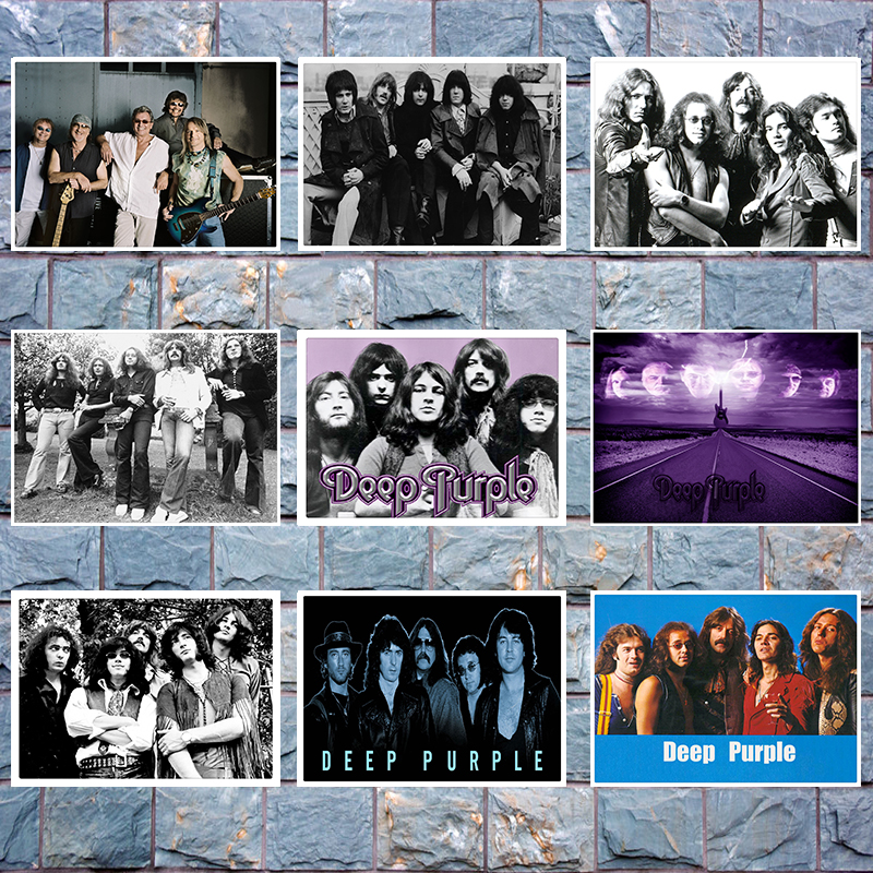 Deep Purple  Rock Band Poster Clear Image Wall Stickers Home Decoration Good Quality Prints White Kraft Paper  42x30cm