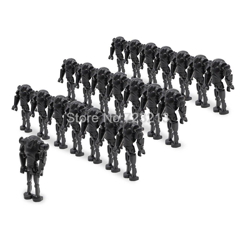 wholesale 100pcs/lot Space Wars Super Battle Droid Figure Set Model Building Blocks kits Brick Toys for Children