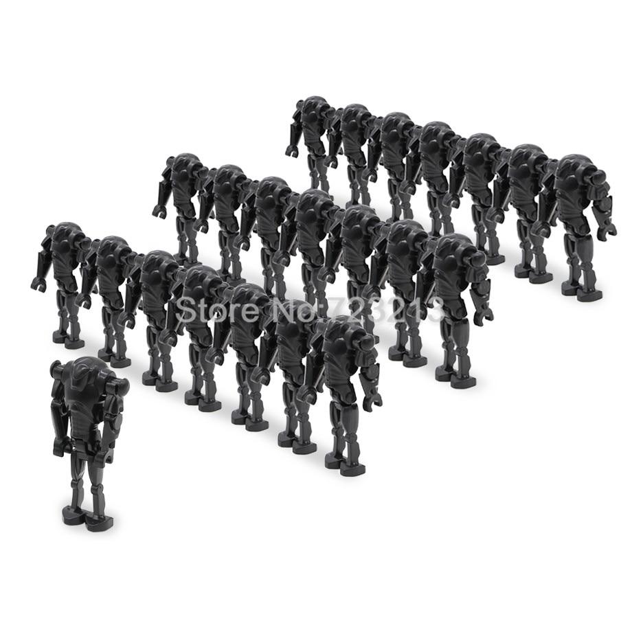wholesale 100pcs/lot Star Wars Super Battle Droid Figure Set Starwars Model Building Blocks kits Brick Toys for Children