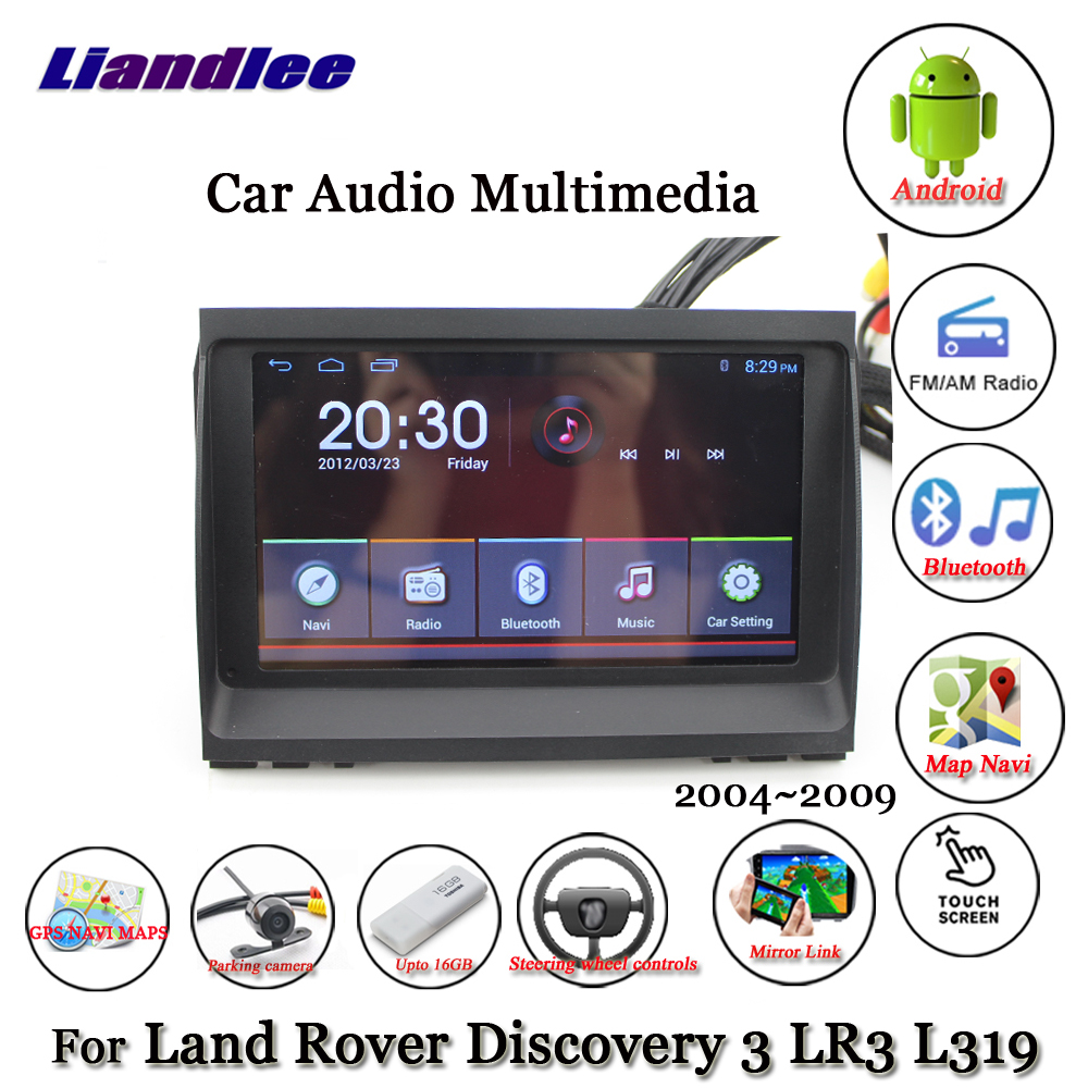 Liandlee Android For Land Rover Discovery 3 LR3 L319 2004~2009 Radio Carplay Parking Camera TV BT GPS Navi Navigation Multimedia (1)