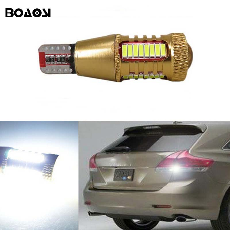 BOAOSI 1x White Canbus Error Free T15 W16W LED Backup Reverse Lights lamps For toyota corolla avensis 06-13 rav4 crown new reiz error free t20 socket 360 degrees projector lens led backup reverse light r5 chips replacement bulb for subaru outback