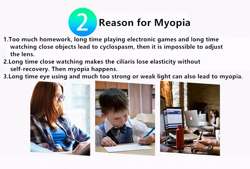 Rechargeable Myopia Cure Machine Short Eye Sight Recovery Device DC Battery Eyes Acupuncture Massaging Massager Laser Radiation  (10)
