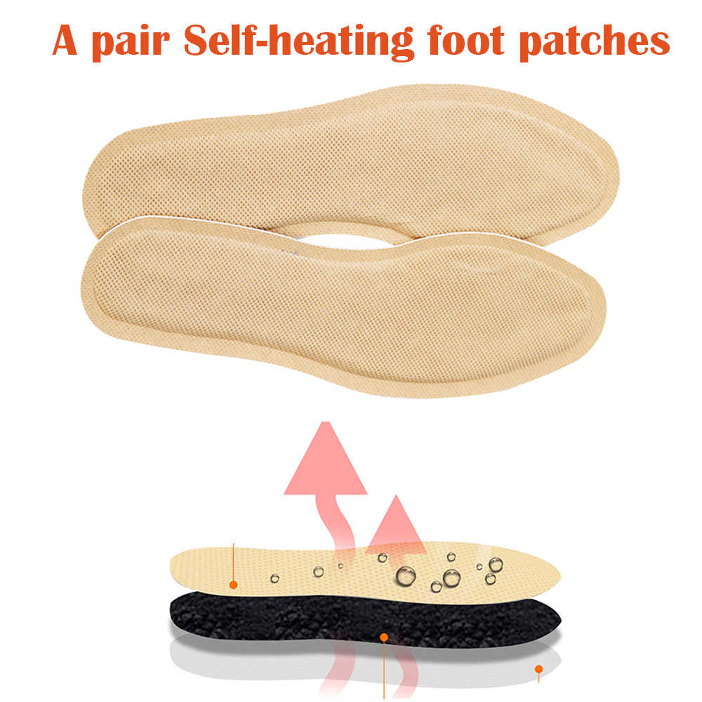 Self-heating Walkable Heated Foot Pads Heating Foot Patch Insole Warm Stick Insole Heating Without Usb Electric