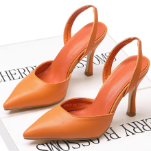 цена XZ012 High Heels Women Pumps PU Leather Pointed Toe Women Shoes Ladies Shallow Thin High Heel Sandals Summer Sexy Slip-on Pumps онлайн в 2017 году