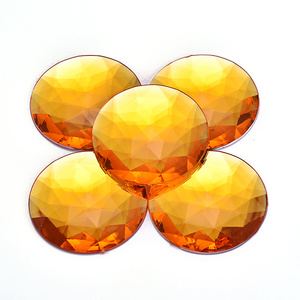 Image 4 - Junao 20個52ミリメートル大abクリスタルラインストーンラウンドラインストーンダイヤモンドフラットバックアクリル宝石非sew石diy工芸品