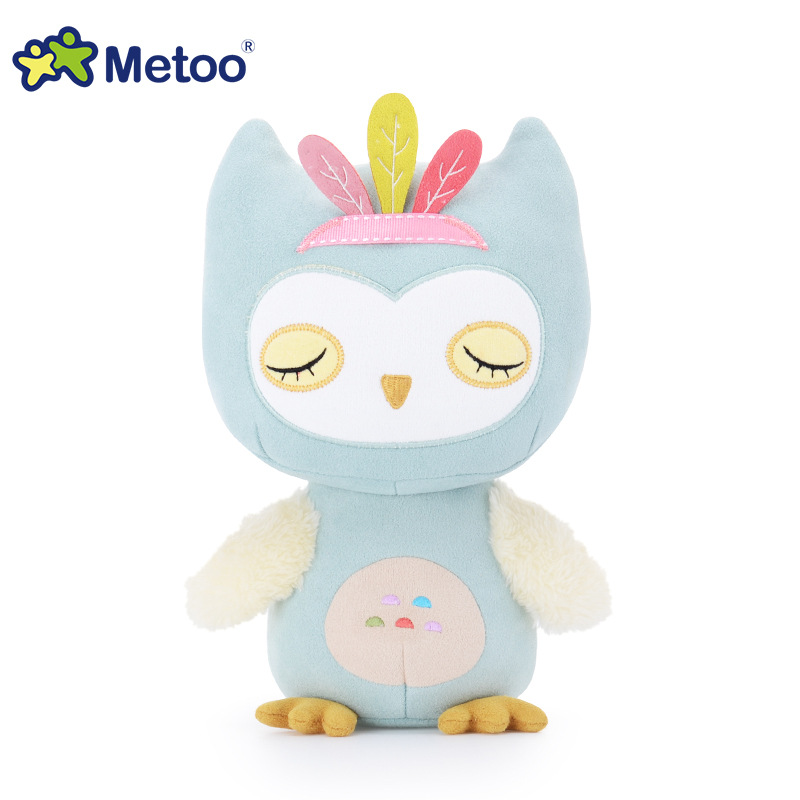 7.5 Inch Sweet Cute Owl Kawaii Plush Stuffed Animal Cartoon Kids Toys for Girls Children Baby Birthday Christmas Gift Metoo Doll 8 inch plush cute lovely stuffed baby kids toys for girls birthday christmas gift tortoise cushion pillow metoo doll